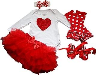 5PCS Baby Girls' Newborn Tutu Onesie Outfit Princess Party Dress