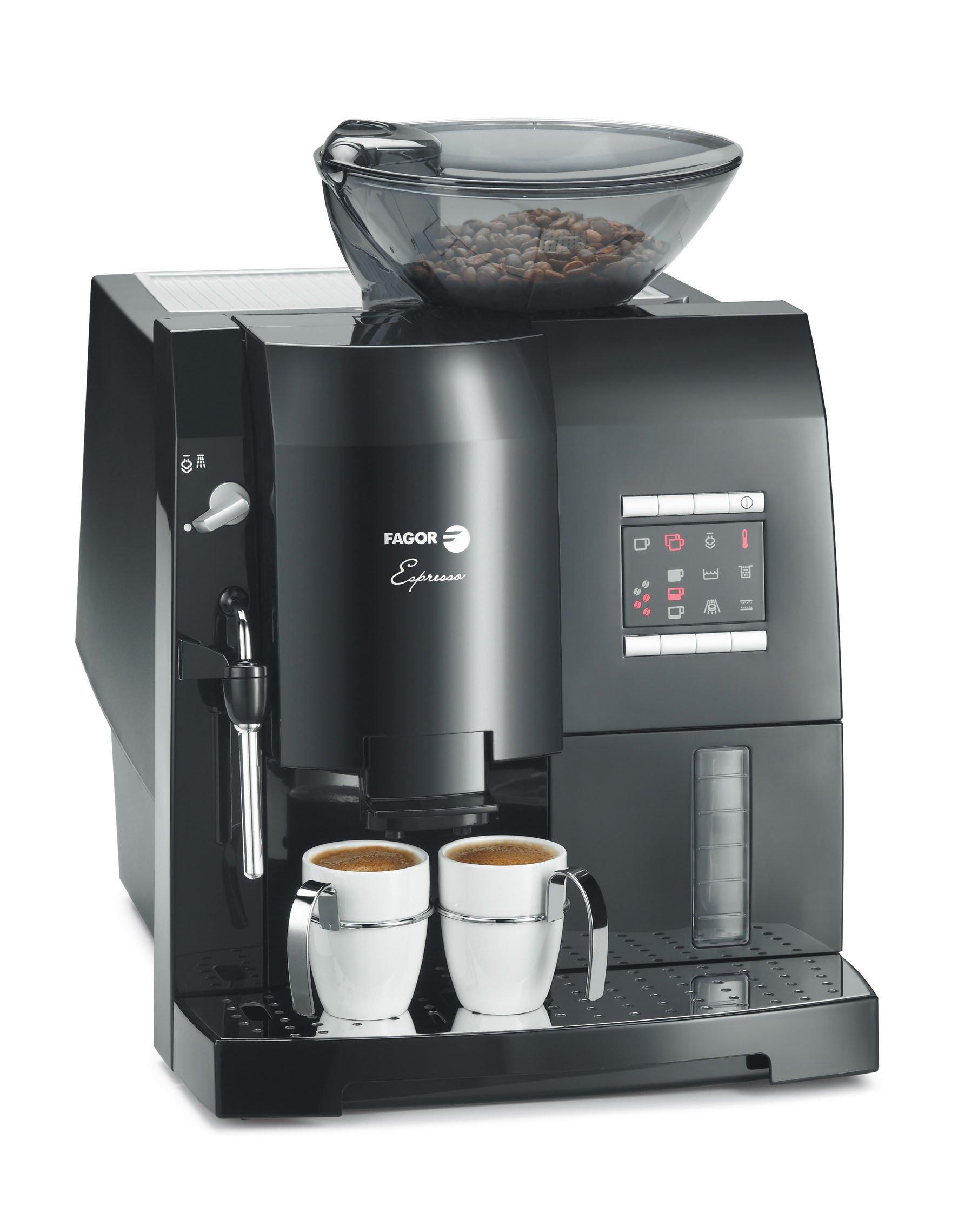 Fagor - Cafetera Espresso Cat40Ng, Display, 16 Bares, Thermoblok ...