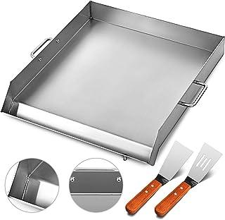 """Plaque supérieure plate en acier inoxydable de 16 """"x 18"""" pour plaque de cuisson à trois brûleurs (16 """"x 18"""")"""