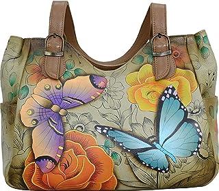 Women's Genuine Leather Shoulder Bag | Hand-Painted Original Artwork