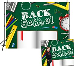 DANIU Back to School Photography Backdrop for Kid Student Teacher Children Birthday Party Banner Learning Grad Background Photocall Photobooth Prop-DN045