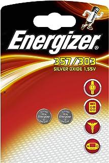 Energizer - 635995 - 2 Piles pour Montre Oxyde d'Argent 357/303 - 1,55 V - Lot de 2