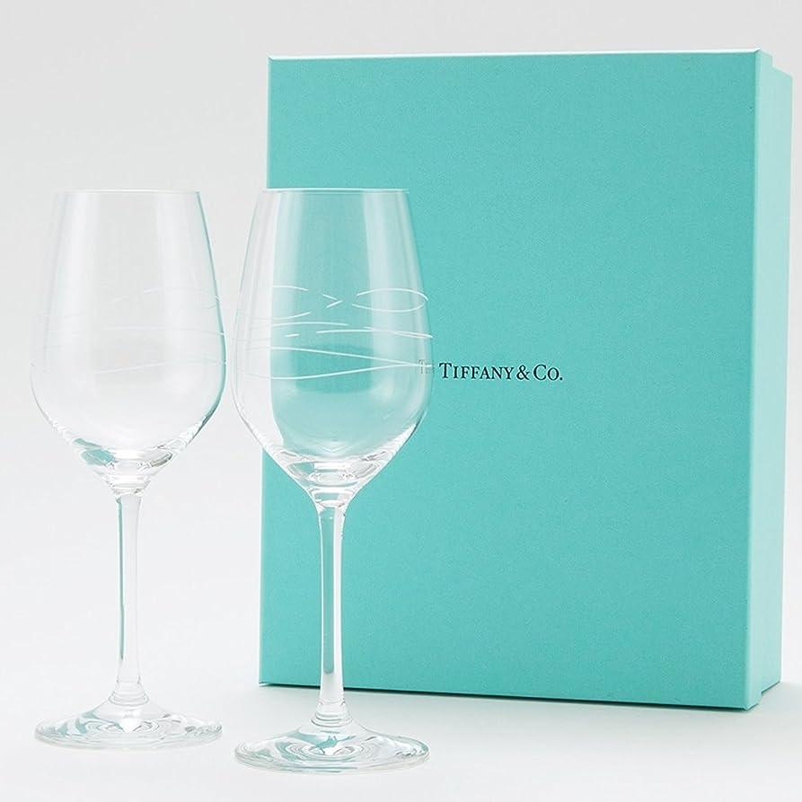 【名入れ対応可】ティファニー TIFFANY&Co カデンツ ワイン グラス ワイングラス セット ペア 2点セット 185ml お祝い ギフト用 結婚祝い 贈り物 (名入れあり(別途+1,080円))