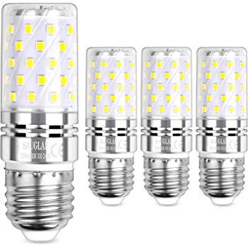 E14 LED Maíz Bombillas 5W AC220V 400LM, 35W incandescente bombillas equivalentes, Blanco Cálido 3000K Candelabro Bombillas LED Lámpara, 4 Piezas: Amazon.es: Iluminación