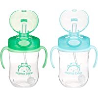 Deals on 2-Pack Amazon Brand Mama Bear Weighted Straw Sippy Cup