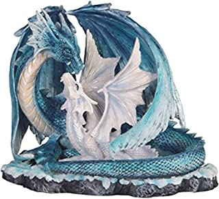 """Best StealStreet SS-G-71533 Light Blue Dragon Mom with White Baby Statue Figurine, 7"""" Review"""