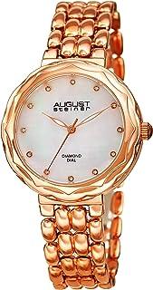 August Steiner Women's Quartz Watch, Analog Display and Stainless Steel Strap