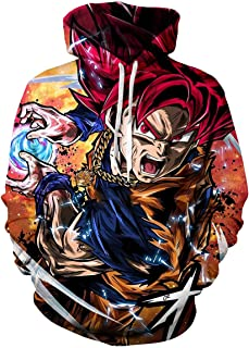 Unisex Kids Dragon Ball 3D Print Pullover Hoodie Sweatshirt with Front Pocket