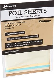 Vintage Foil Sheets (10 Sheets