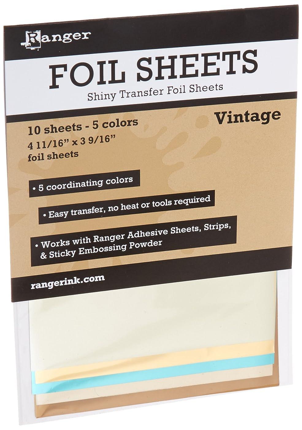 Vintage Foil Sheets (10 Sheets - 5 Colors)