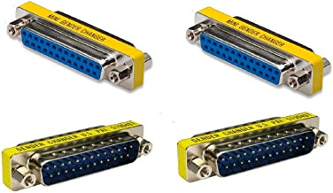 Ruibo Sike 25 Pin 2 Male to Male 2 Female to Female Parallel DSUB Gender Changer Adapter - DSUB - IEEE-1284 - D25 - Cable Converter - Port Adapter