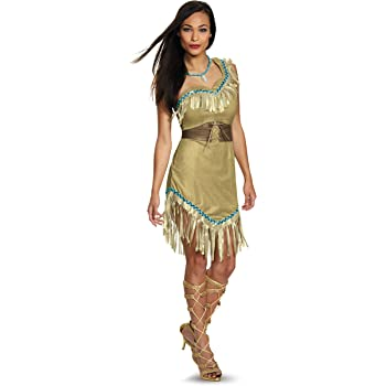 Disguise Womens Deluxe Pocahontas Fancy Dress Costume Small ...