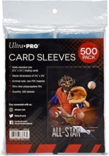 """Ultra PRO Clear Card Sleeves for Standard Size Trading Cards measuring 2.5"""" x 3.5"""" (500 count pack)"""