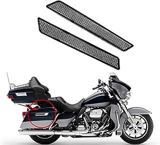 Rebacker Motorrad Satteltaschen Verriegelungsschutz Reflektor für Harley Touring Street Glide Latch Covers 14 17, Rot Weiß TH015804