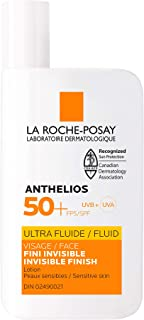 La Roche-Posay Sunscreen Lotion, Anthelios Ultra Fluid Face Sunscreen SPF 50+ Broad Spectrum, Non Greasy, Lightweight, No...