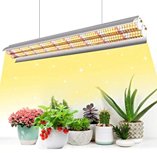 Niello T5 Lámpara para plantas, Full Spectrum de 60 cm, lámpara LED de cultivo interior, 96 LED 660 nm/3000K/5000K Plant Grow Lamp con reflector/Daisy Chain Design para siembra, invernadero, cultivo
