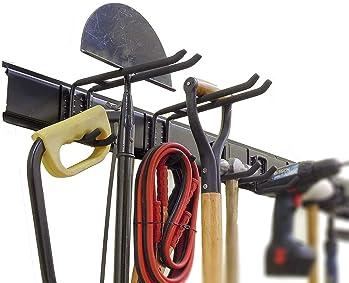 Ganchos de Garaje para Trabajo Pesado Escaleras 14Pcs Metal Organizador de Almacenamiento de Montaje en Pared con Revestimiento Antideslizante para Jard/ín Herramientas