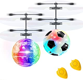 2 Pack RC Flying Ball Glow Flying Toys for Kid Boy Girl Holiday Christmas Gifts RC Toy Mini Drones Hand Controll Helicopte...