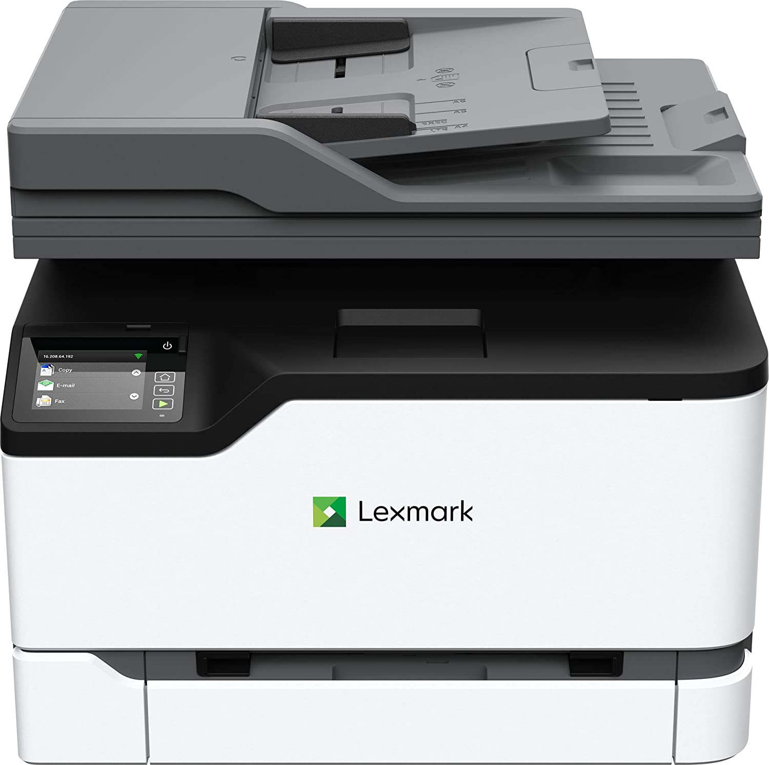 Lexmark MC3224adwe Color Multifunction Laser Printer with Print, Copy, Fax, Scan and Wireless capabilities, Two-Sided Printing with Full-Spectrum Security and Prints Up To 24 ppm (40N9050)