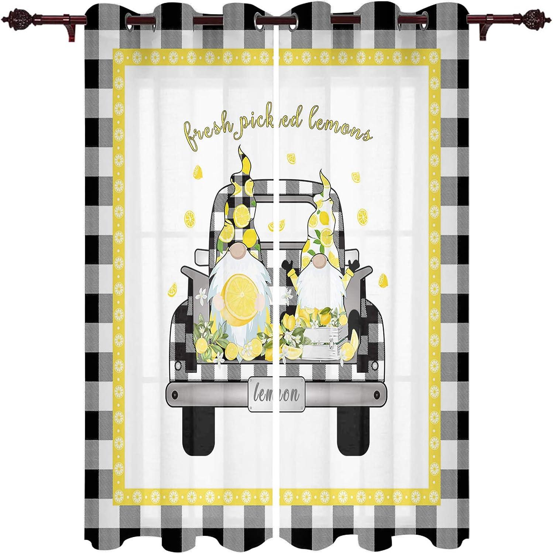 Lemon Gnome Farm Truck Curtain Treatment Drapes Panles It is very popular mart Window 2