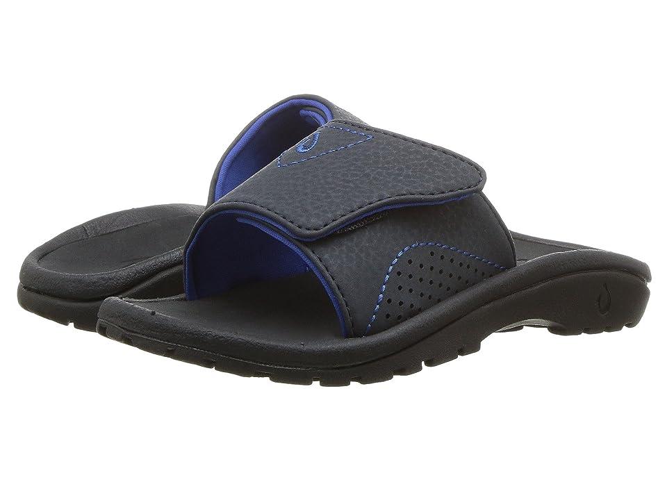 OluKai Kids Nalu Slide (Toddler/Little Kid/Big Kid) (Midnight Navy/Lava Rock) Boys Shoes