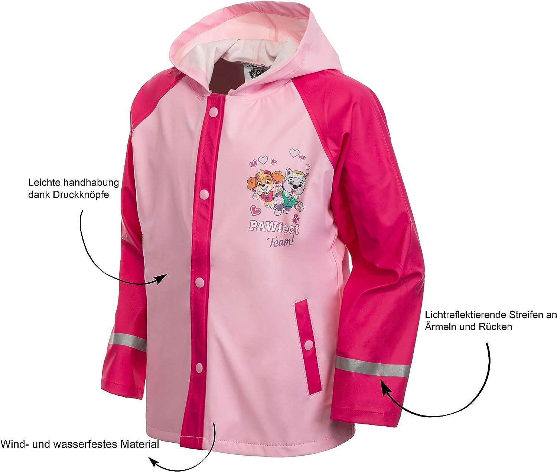 Brandsseller M/ädchen Kinder Regenjacke mit Motiven im Stil von Frozen Paw Patrol