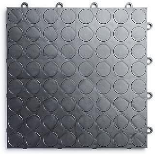 RaceDeck CircleTrac, Durable Interlocking Modular Garage Flooring Tile (48 Pack), Graphite