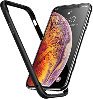 Humixx Extre Series iPhone Xs Case(2018) with Aluminum TPU Hybrid Shockproof Bumper Case Compatible with iPhone X(2017) -Matte Black