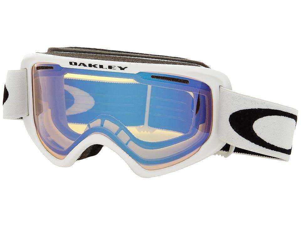 Oakley O2 XM (Matte White/High Intensity Yellow) Sport Sunglasses