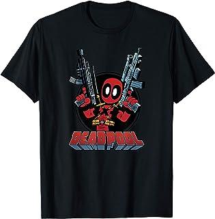 Marvel Deadpool Cartoon Guns T-Shirt