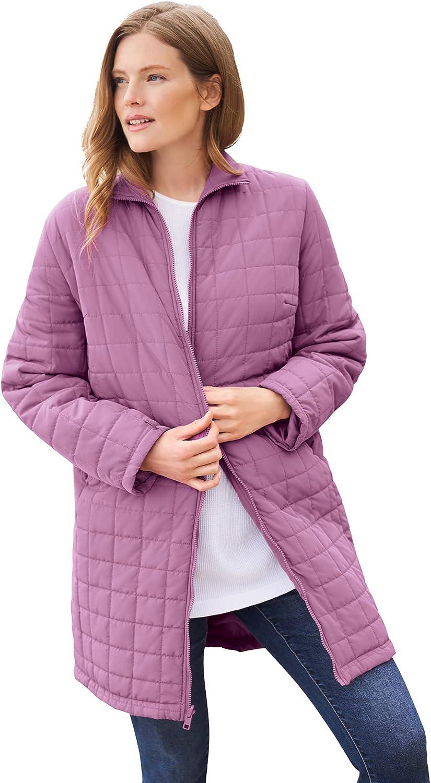 Woman Within Women's Plus Size 3-In-1 Hooded Taslon Jacket