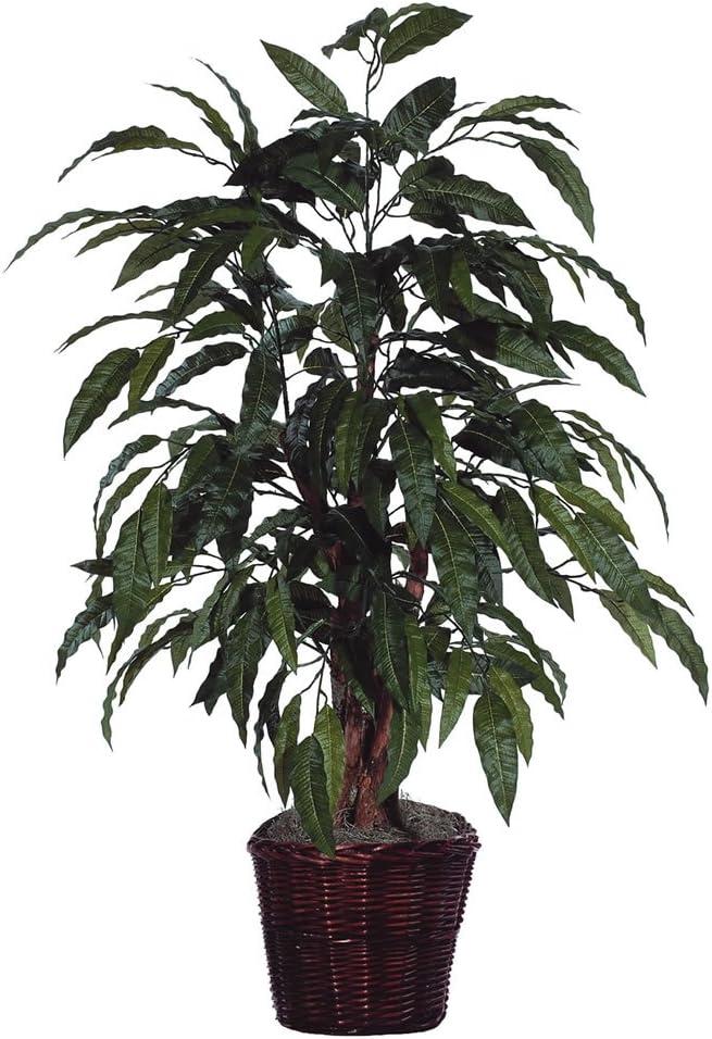 Vickerman Max 55% OFF Everyday - 4' Indoor Tag Bush Real Artificial Mango Special sale item