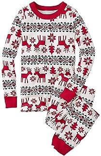 Pijamas Conjunto De Pijama Familia De Navidad Ropa De Dormir Navideños para Mamá Bebé/Niño/Adulto Impresión Reno Dos Piezas Fiesta Xmas Homewear Cuello Redondo Manga Larga Set Pijamas