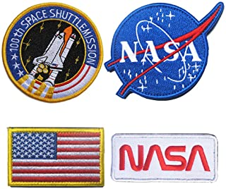 Athena NASA Apollo 11 Mision Patch 4 Embroidered Iron//Sew-on Applique Patch