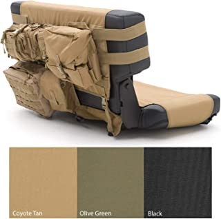 Smittybilt 5660224 G.E.A.R. Rear Seat Covers for 1976-2006 Jeep Wranglers, Coyote Tan