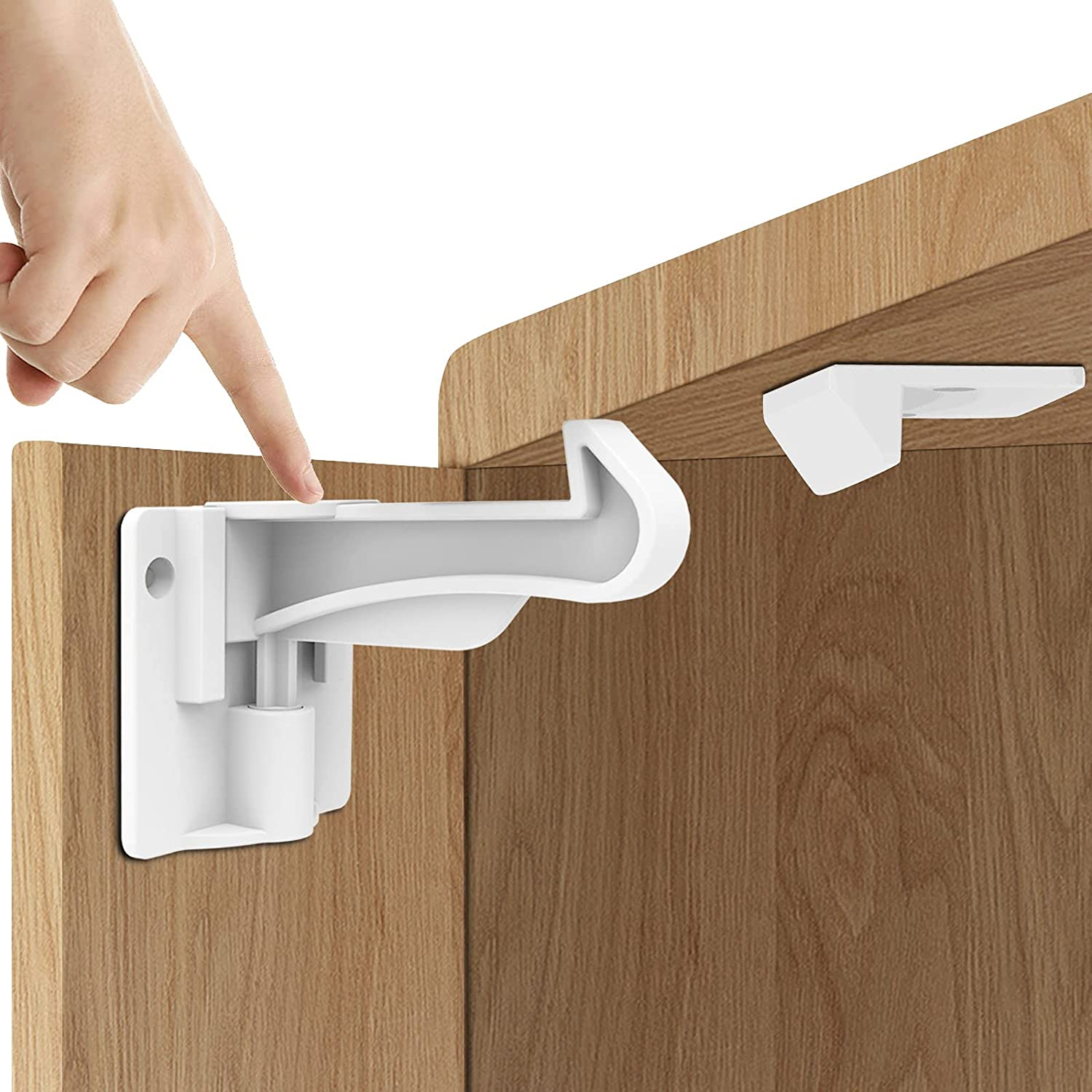 Upgraded Version 12 favorite Pack Child Locks Baby Cabinet service White Proofing