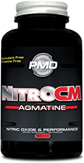 PMD Sports Nitro cm - Nitric Oxide with Agmatine Pre Workout Supplement - Muscle Growth Pre Workout with L Arginine - Endurance Boost for Hardcore Exercise, Training, and Bodybuilding - 180 Capsules