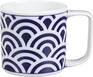 西海陶器 インディゴクラシック マグカップ 325ml 青海波柄 49310