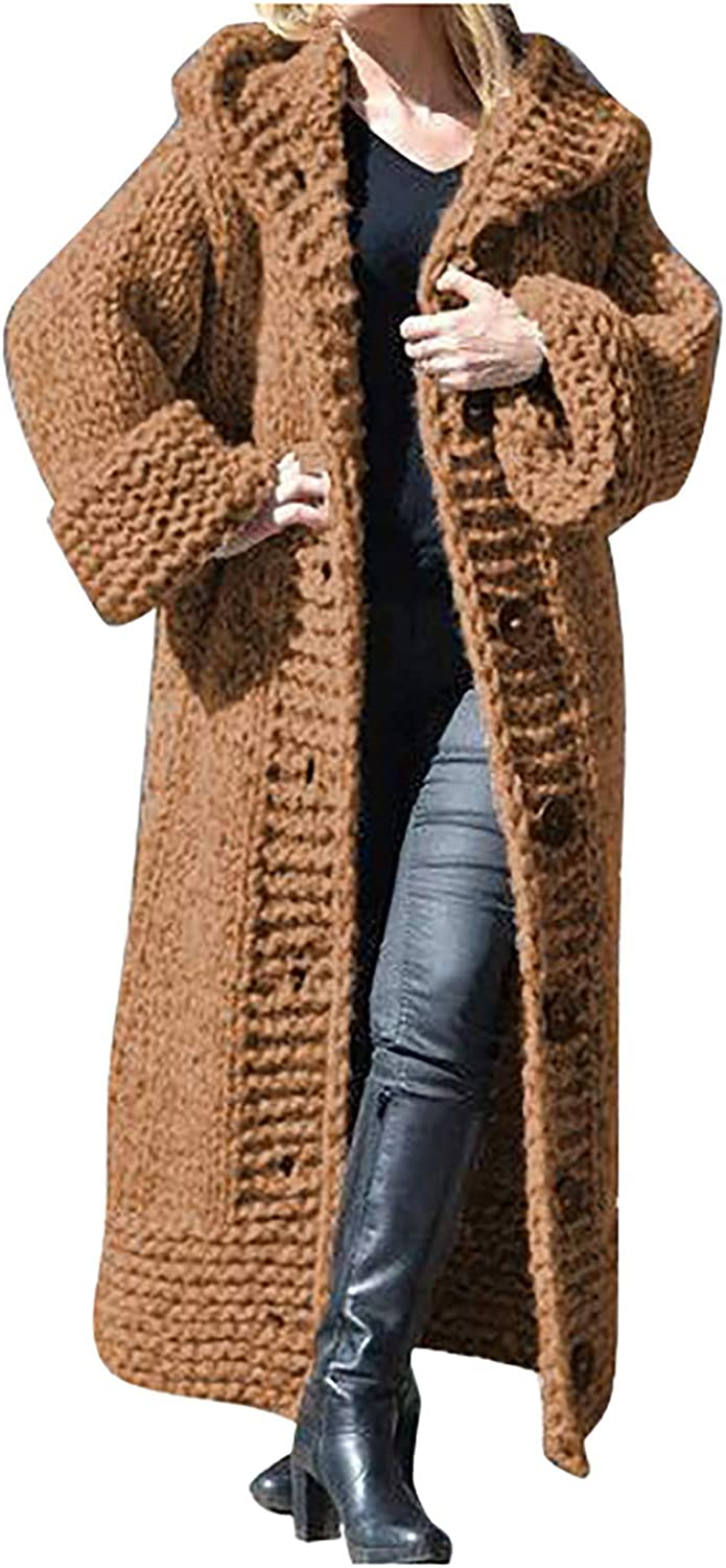 Amaeen Coats for Womens Fashion Mail order Long Max 63% OFF Color Solid Sweater Cardiga