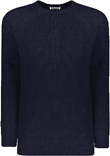 Lambretta Mens Rib Knit Knitted Warm Winter Crew Neck Pullover Jumper Sweater