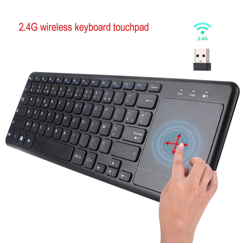 XuBa L200 Teclado en inglés y francés 2.4G Teclado inalámbrico para Tablet Escritorio con Ratón Táctil para Accesorios CE: Amazon.es: Electrónica