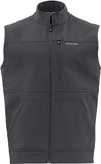 Simms Rogue Fleece Vest – Men's Water Resistant Sleeveless Vest – Full Front Zipper Vest – Zippered Chest Pocket