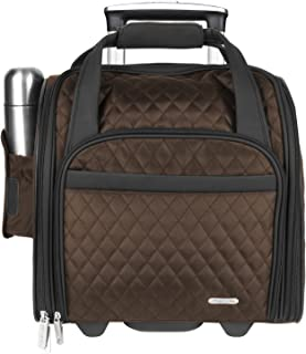 Travelon Wheeled Underseat Carry-On with Back-Up Bag, Chocolate (Brown) - 6454 9