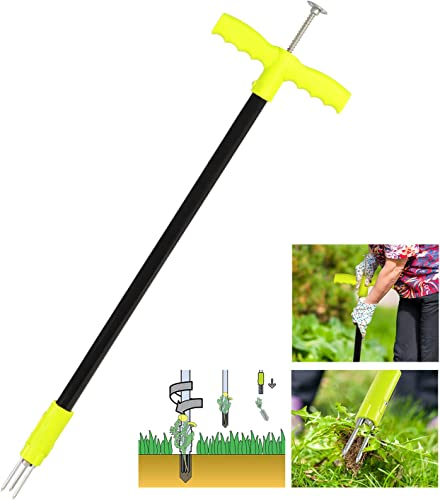 new arrival ORIENTOOLS popular Weed Puller Tool, Garden Stand Up Weeder with 3 Claws for outlet sale Dandelion, Steel Twist Hand Weed Root Pulling Tool and Grabber, Picker, 36.6-Inch sale