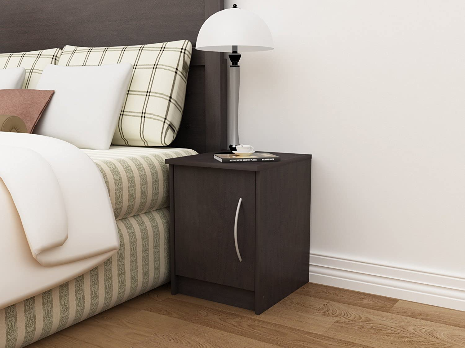 Homestar Finch 1 Door Nightstand, Espresso