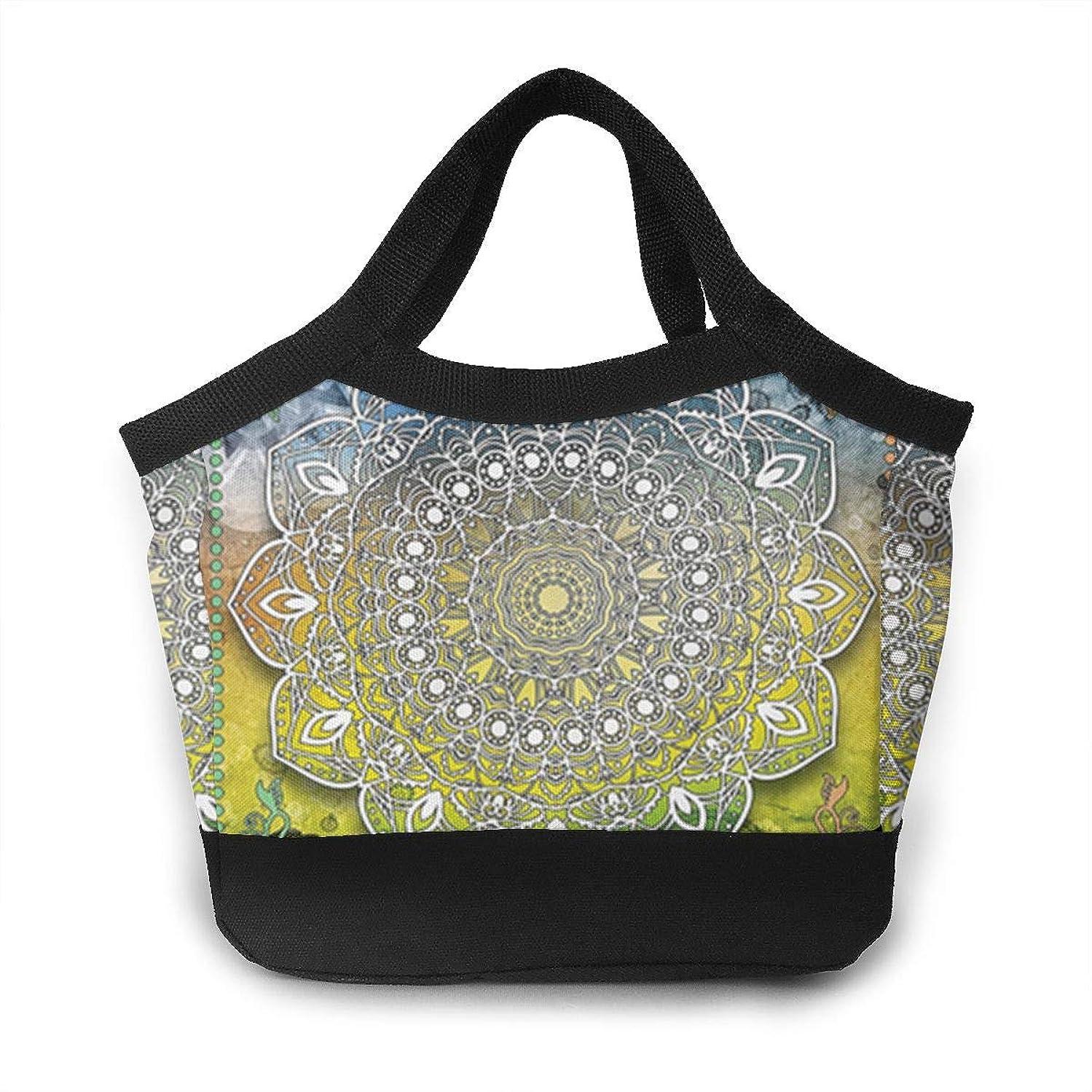 JHNDKJS Mystic Asian Mandala Zen Culture Lunch Bag Insulated Lunch Box Cooler Bag for Women Men Adults Work