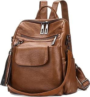 Mynos Woman Anti-theft Backpack Purse, Ladies PU Leather Fashion Rucksack Shoulder Handbag Travel Daypack