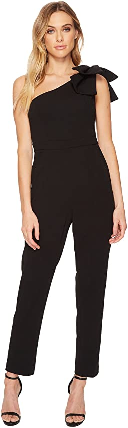 Adrianna Papell - One Shoulder Jumpsuit with Bow Detail