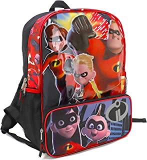 Incredibles 2 Backpack with Front Zippered Compartment - RED