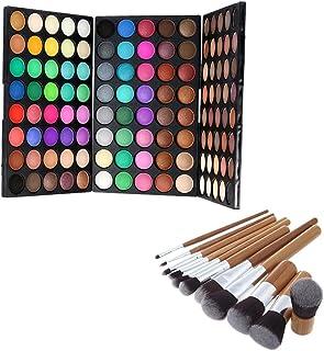 Flameer 120 Colors Matte Eyeshadow Powder Contour Makeup Concealer Palette Brush Kit